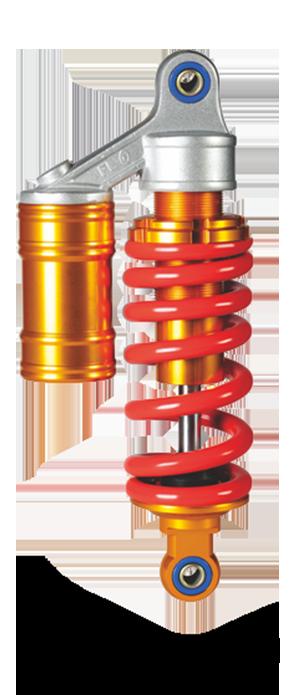 หลังศูนย์รถออฟโรด (รถจักรยานยนต์) Rear Air Shock Absorber Suspension QL-36GBAR001