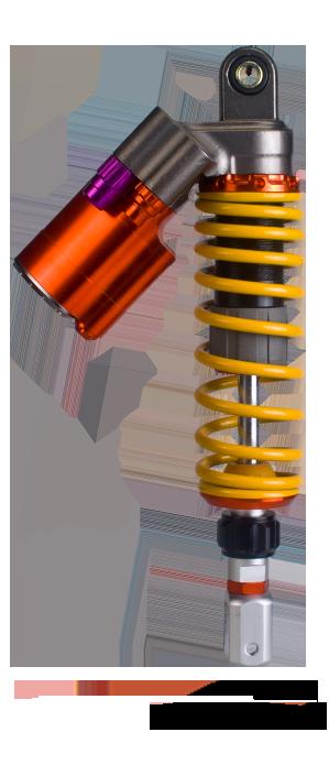รถจักรยานยนต์ (รถยนต์ไฟฟ้า) โช้คอัพหลัง Air Suspension QL-36GBR028